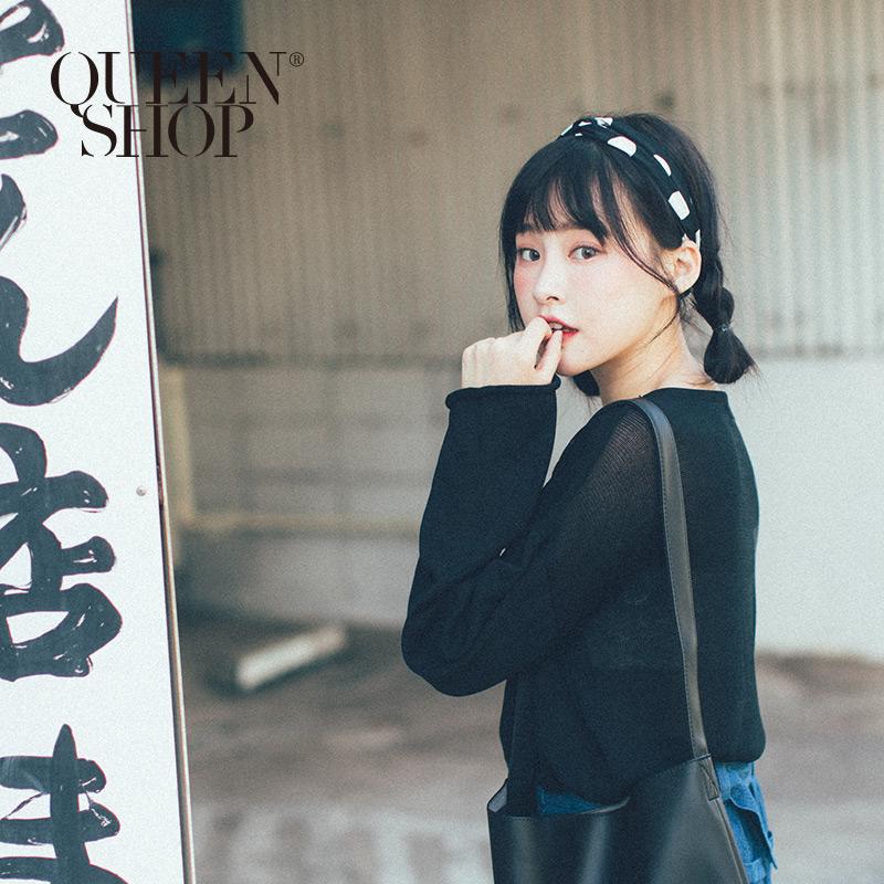 Queen Shop【07090237】黑白點點造型髮帶*現+預*