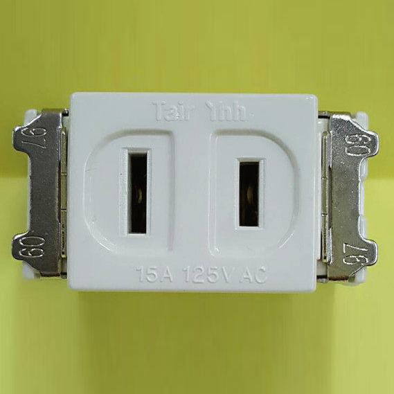 [ 中將3C ]   壁內用插座2P   TS-1001