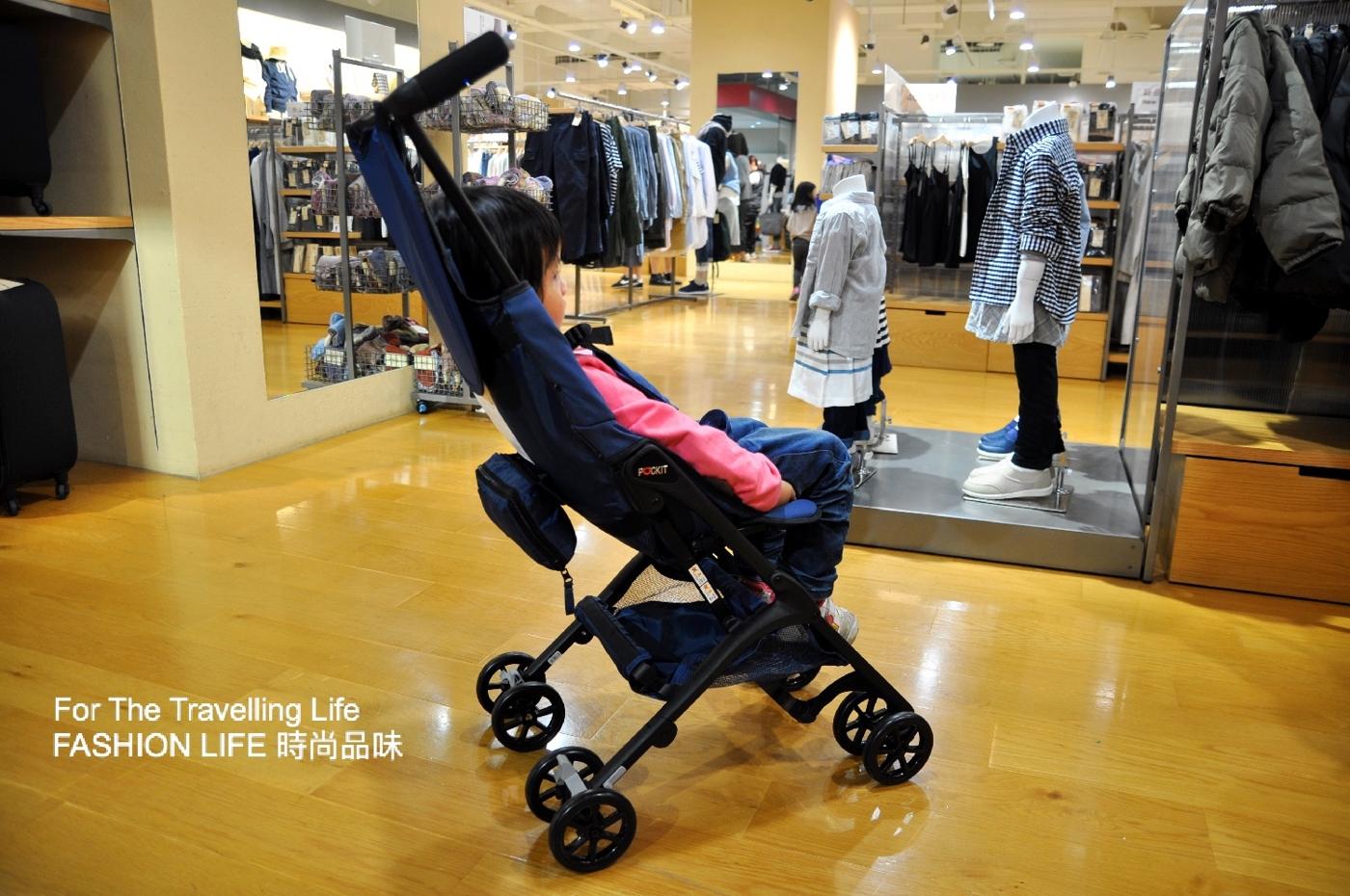 時尚品味嬰兒車出租6天日本三代口袋型推車POCKIT新生兒藍色及桃紅時尚推車出租
