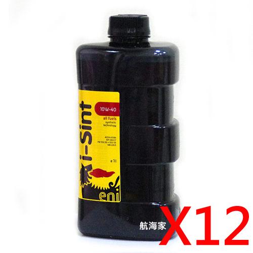 AGIP ENI I-SINT 10W40 合成機油三角瓶整箱
