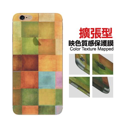 Apple iPhone 6/6S Plus 5.5吋 映色半透明質感 彩繪造型背膜 背貼 擴張型 保護貼-A01