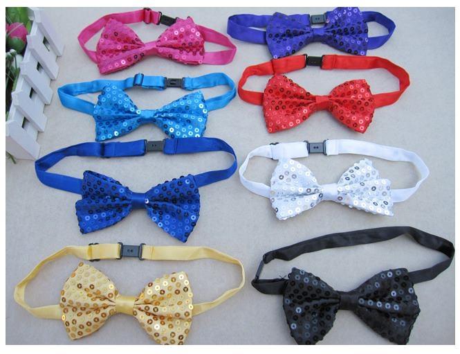 預購 - 多色舞蹈表演亮片領結珠片領結成人兒童通用掛帶領結