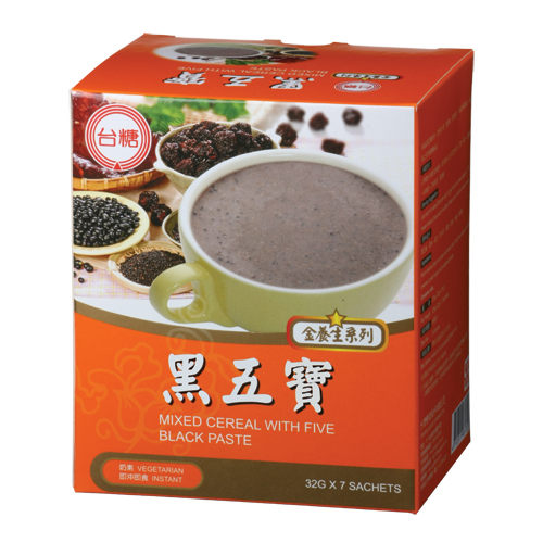 《台糖優食》台糖黑五寶_盒裝 x1盒(7包/盒) ~天然穀粉 奶素