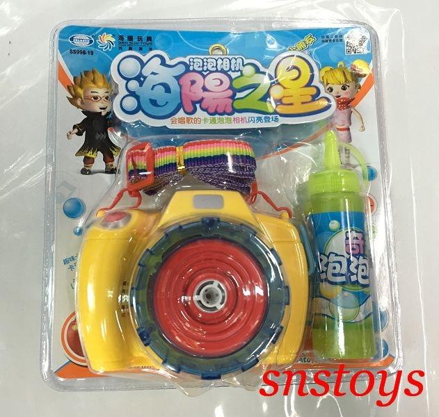 sns古早味相機造型泡泡機泡泡相機泡泡槍泡泡水電動聲光會唱個的泡泡相機長寬12x10公分