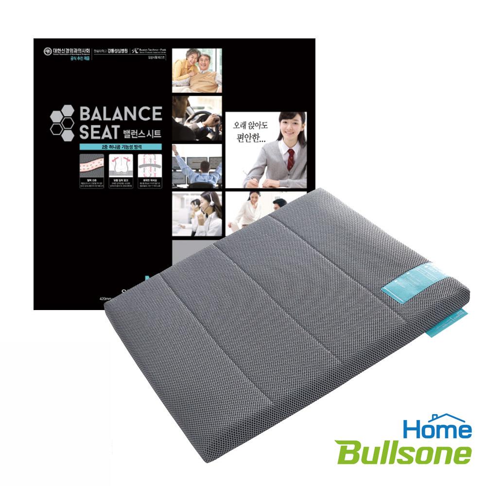 【Bullsone】蜂巢凝膠健康坐墊-灰色(M號)