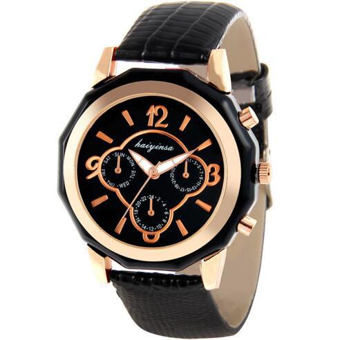 [現貨] 時尚 奢華 錶 商務 防水 潮流 皮帶手錶 黑白 情侶 生日禮物 交換禮物 大面錶 極簡