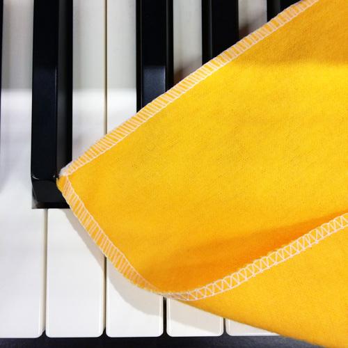 敦煌樂器THMC樂器專用擦拭布雙面黃色款五入包裝款