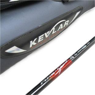 新款凱夫拉中通竿獵刃4.5米竿輪一體附送竿包