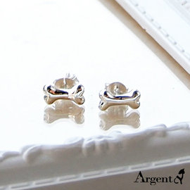 《 SilverFly銀火蟲銀飾 》「迷你狗骨頭」純銀耳環