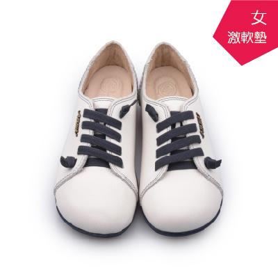 A MOUR經典手工鞋頂級牛革饅頭小牛白氣墊鞋平底頂級小牛皮超軟饅頭鞋DH-2818