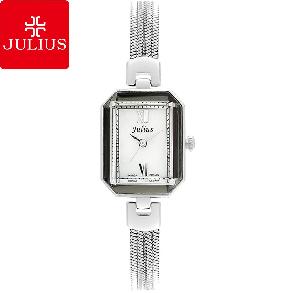 JULIUS聚利時左岸呢喃貝殼面鍊飾腕錶-銀色20x26mm JA-716A