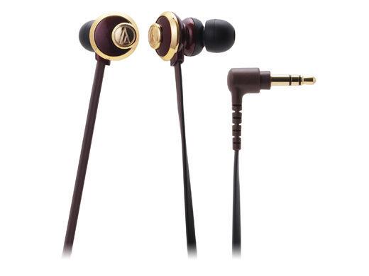 台中平價鋪全新鐵三角ATH-CKF77耳塞式耳機棕色優美曲線女性專屬台灣鐵三角公司貨