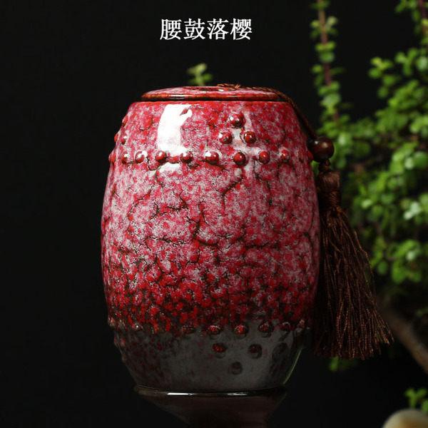 陶瓷茶罐腰鼓落櫻