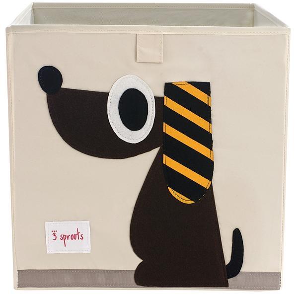【加拿大 3 Sprouts】收納箱-黑皮狗款