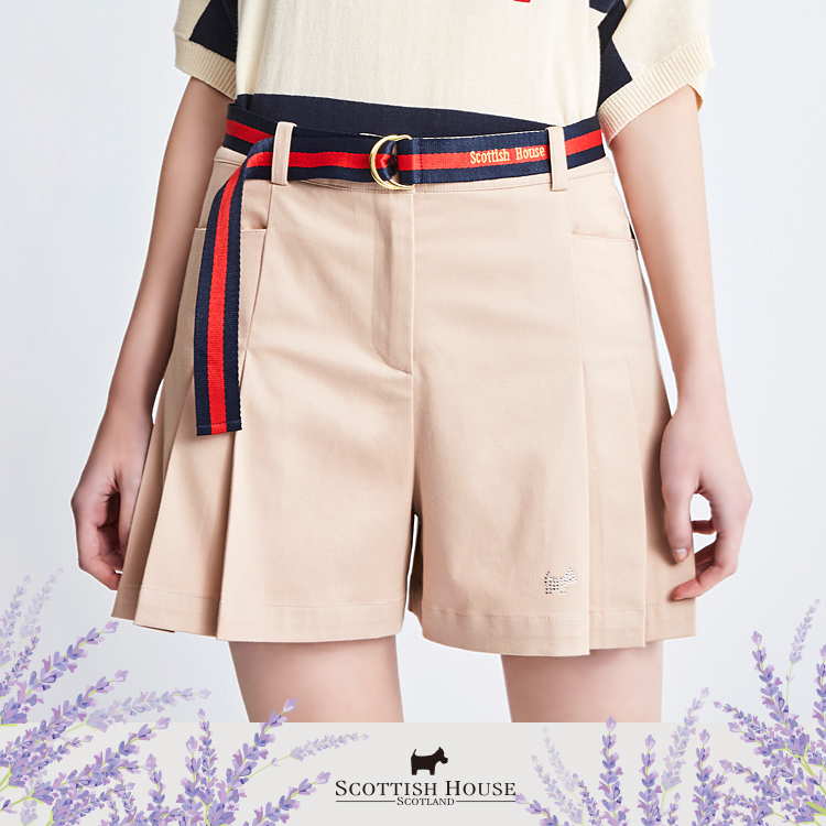 百摺腰帶裙褲 Scottish House【AI2260】