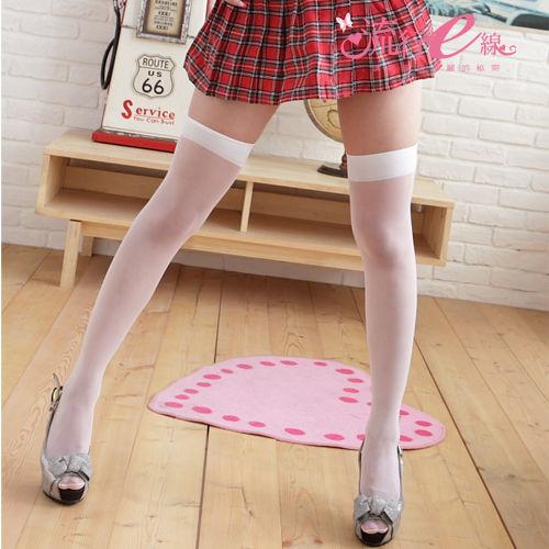 大腿襪性感美腿白色黑色膝上大腿襪流行E線B285