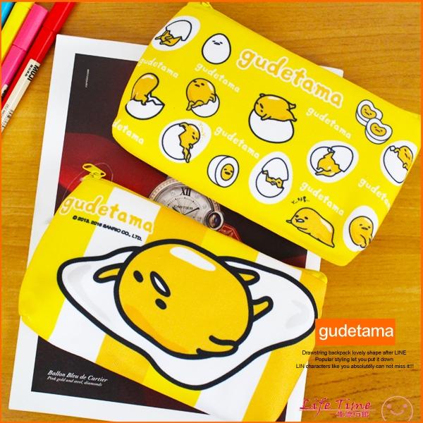 追加現貨蛋黃哥正版扣式鉛筆袋手機觸控包鉛筆盒文具收納小物袋B01777