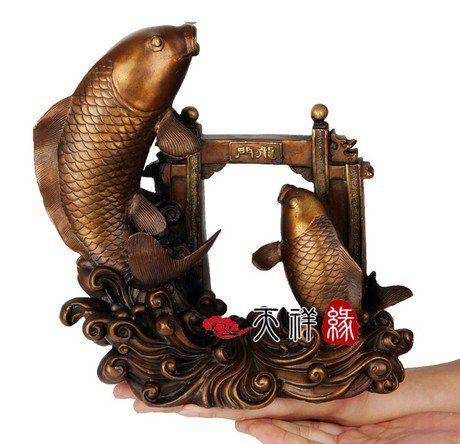 銅鯉魚躍龍門魚龍門開業送禮