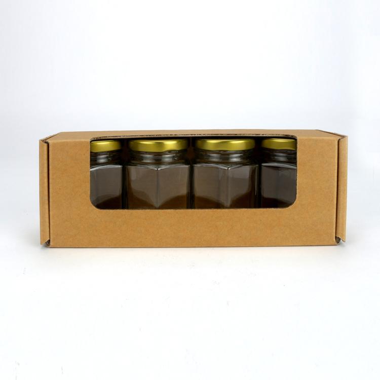 4入果醬盒 素面無印刷 開窗盒 (20入裝)