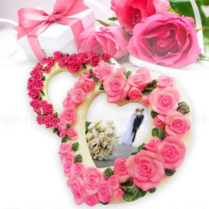 派樂粉嫩愛心系列相框-中1入婚禮擺設送禮小物聖誕交換禮物擺飾情人節禮品