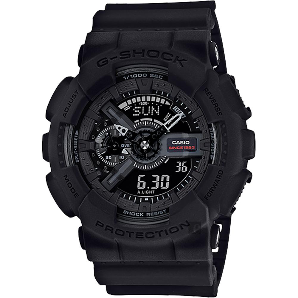 CASIO卡西歐G-SHOCK 35周年紀念錶款宇宙大爆炸雙顯錶GA-135A-1A