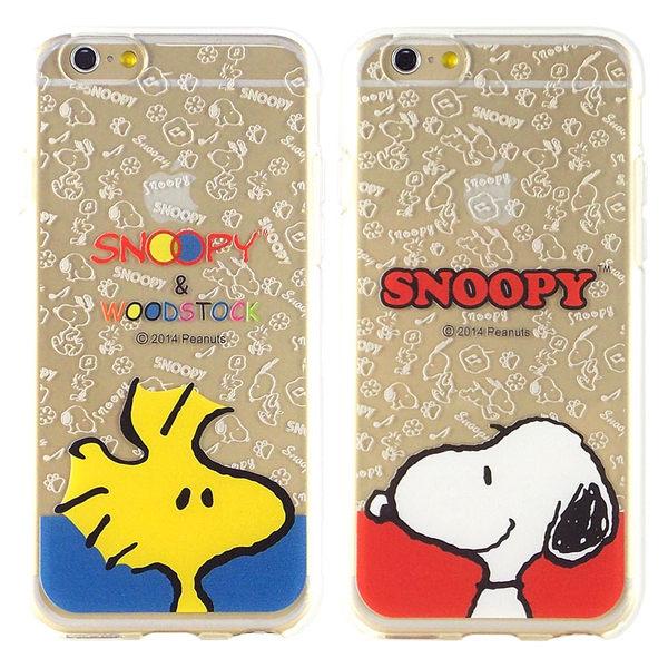 Snoopy史努比iPhone 6 6s彩繪透明保護軟套