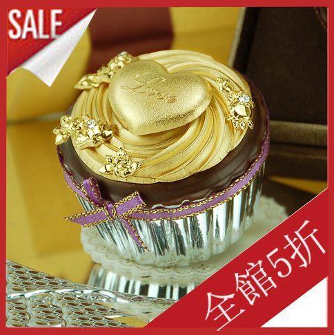 七夕情人節~黃金箔小確幸蛋糕LOVE金的愛戀4個裝~結婚生日禮物~081812