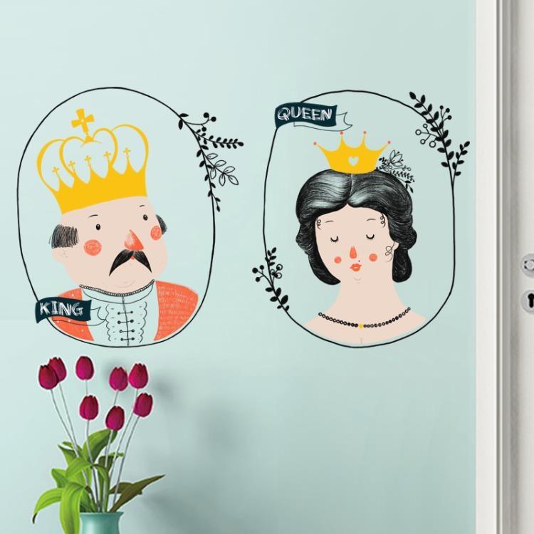 墻貼 歐式復古人物裝飾品浪漫墻貼紙