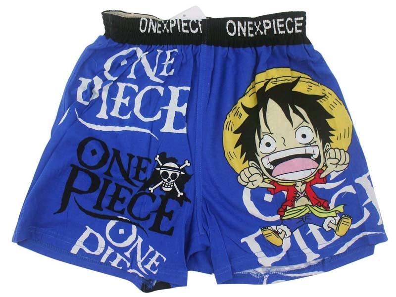 卡漫城航海王短褲版純棉四角褲居家平口褲睡褲One Piece海賊王魯夫娜美喬巴