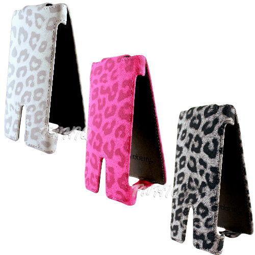 SONY Xperia SL LT26ii 豹紋 下掀式皮套 防撞包角限定款◆贈送! 專用型式 皮套/保護殼◆
