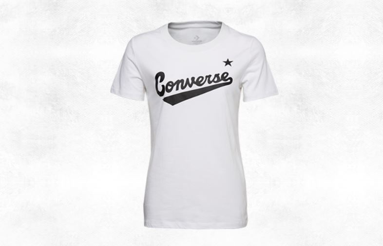 CONVERSE-CENTER FRONT LOGO TEE 女款白色短袖上衣-NO.10018268-A04
