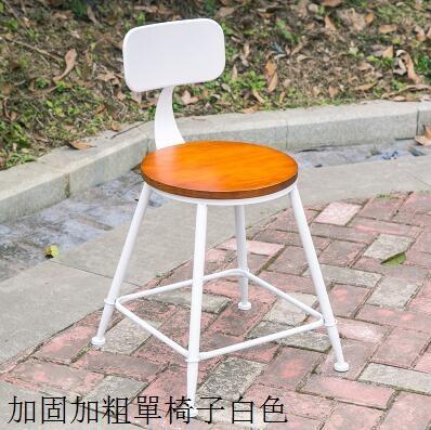 鐵藝陽臺桌椅三件套創意休閒奶茶桌椅主圖款椅子白色