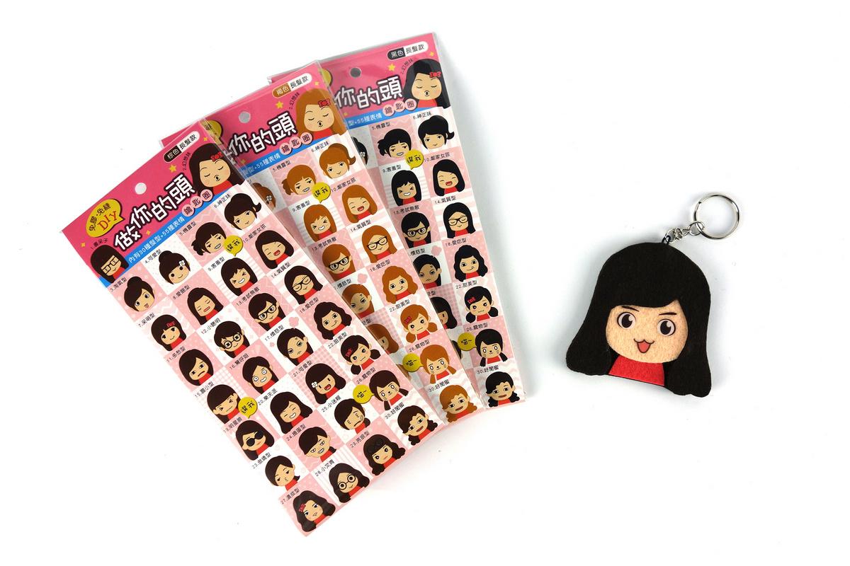 【猴子設計】做你的頭鑰匙圈-女生長髮款