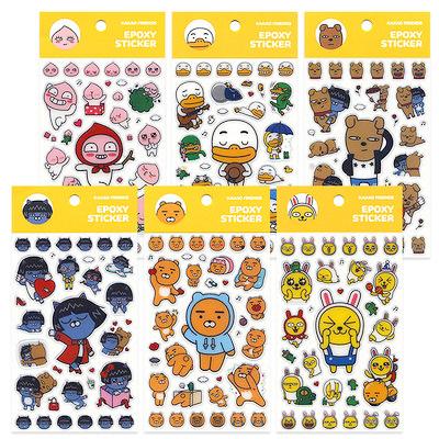韓國 Kakao Friends 厚貼紙(大張) 裝飾貼紙 行李箱貼紙 手機殼貼紙│z7817
