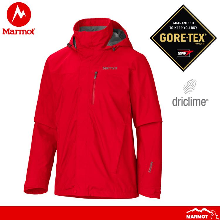 【Marmot 美國 男 Ridgerock防水透氣外套《紅》】306606278/GORE-TEX/防風/耐用/透氣