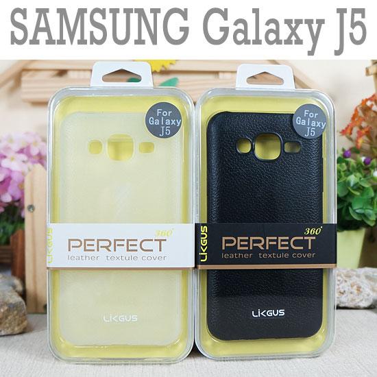 0.7mm三星SAMSUNG GALAXY J5 J500F J5008觸感皮革保護殼防護軟殼手機背蓋手機殼外殼TPU