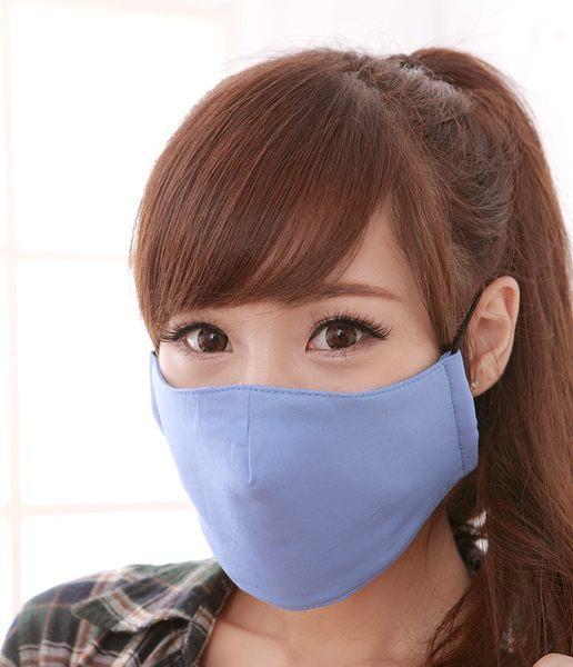 【雨晴牌-超防鏡霧100%純綿專利口罩】(夾層型)◎成人-水藍色◎ 超3D立體空間 適合長時間佩戴