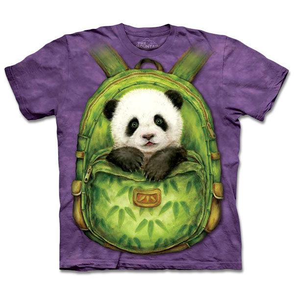 摩達客美國進口The Mountain自然純棉系列背包熊貓T恤10413045092
