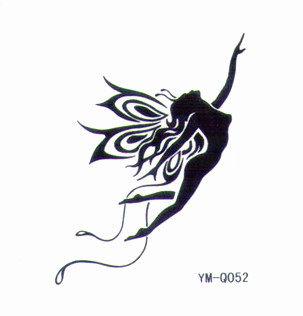 薇嘉雅 蝴蝶仙子 流行時尚圖案紋身貼紙 Q052