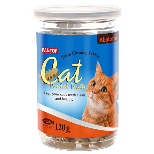 PANTOP邦比愛貓用潔牙錠潔牙片鮑魚120g新上市全面嘗鮮價