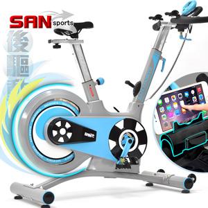競速後驅動18KG飛輪健身車(皮帶傳動)18公斤飛輪車動感單車公路車自行車訓練機台【SAN SPORTS 】