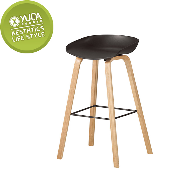 【YUDA】伊絲 橡膠木實木  吧台椅 / 造型椅  /休閒椅 J0M 541-9