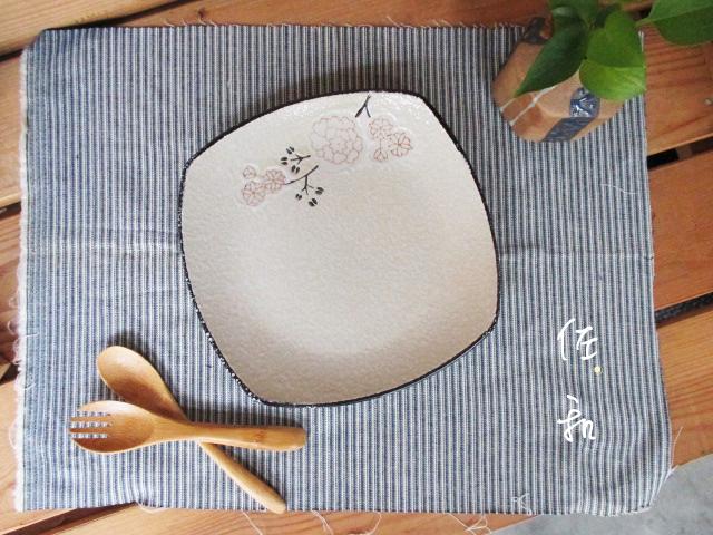 佐和陶瓷餐具~82GA026-7.5 7.5吋四方淺盤白梅開店餐廳擺盤宴會盤