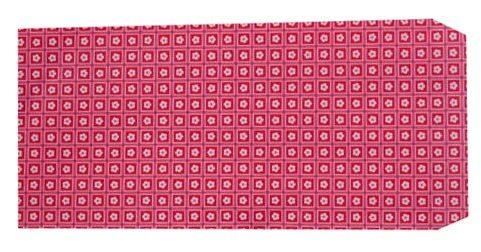 成昌5號20k紅底小花圖案貼心禮物袋款式隨機出貨-100張束