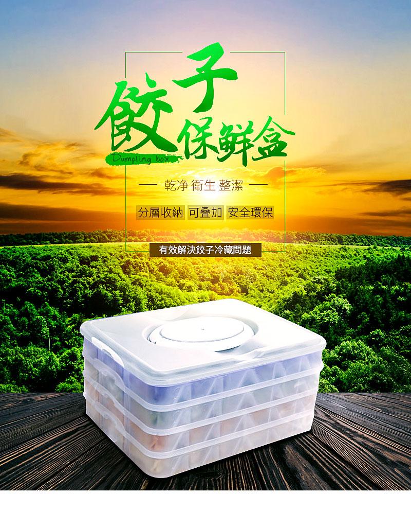 餃子保鮮盒收納盒微波保冷袋 分隔廚房分類收納現貨