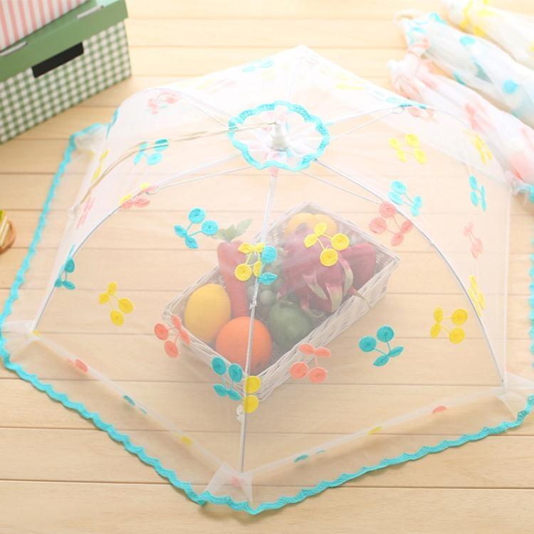 飯罩菜罩 大號圓形防蒼蠅蓋菜罩家用折疊餐桌罩飯菜罩桌蓋菜罩傘tw