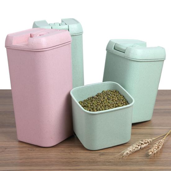 MY COLOR小麥系列易扣罐小五穀雜糧食品保鮮廚房收納密封茶葉零食食物N112