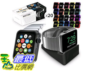 [105美國直購] Orzly Ultimate Face Plates Pack for Apple Watch (Pack of 20) (Assorted Colors) with Nightstand B00ZRVB08I
