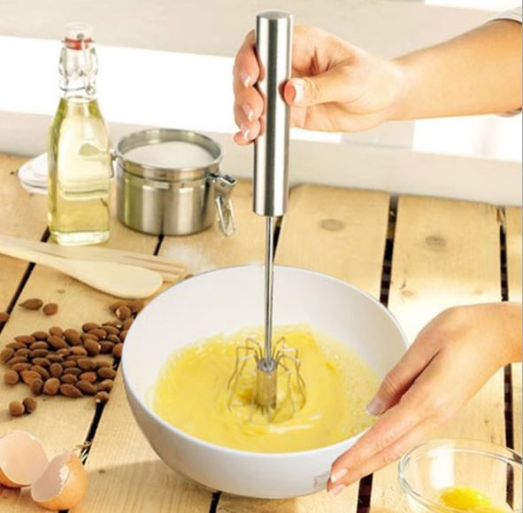 不銹鋼半自動雞蛋攪拌器/手持按壓式打蛋器(中號) 69元