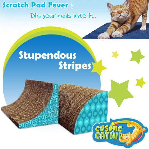 【 培菓平價寵物網 】Cosmi Catnip《宇宙貓》三角弧形貓抓板 DT-11702 內附貓草包